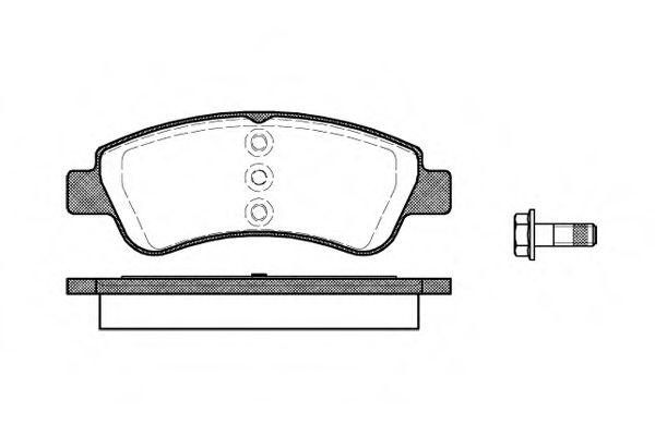 Комплект тормозных колодок, дисковый тормоз REMSA арт. 084020