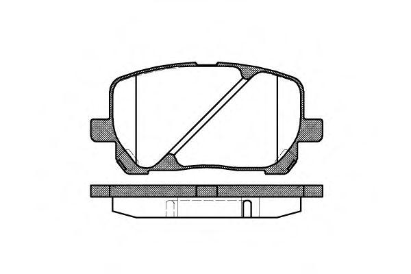 Комплект тормозных колодок, дисковый тормоз REMSA арт. 095400