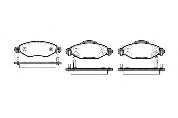 Комплект тормозных колодок, дисковый тормоз REMSA арт. 097802