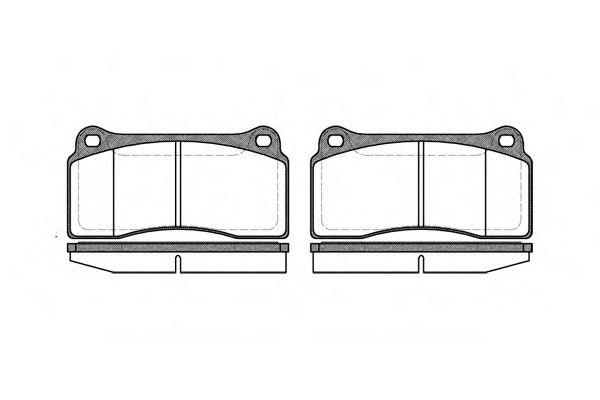Комплект тормозных колодок, дисковый тормоз REMSA арт. 098300
