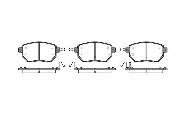 Комплект тормозных колодок, дисковый тормоз REMSA арт. 098502