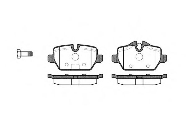 Комплект тормозных колодок, дисковый тормоз REMSA арт. 113200