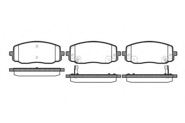 Комплект тормозных колодок, дисковый тормоз REMSA арт. 113302