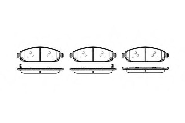 Комплект тормозных колодок, дисковый тормоз REMSA арт. 117302