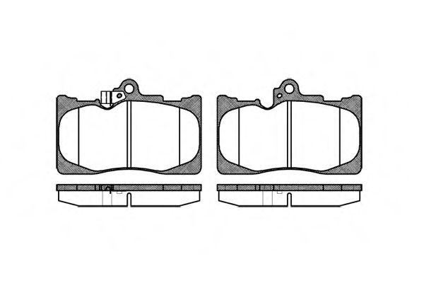 Комплект тормозных колодок, дисковый тормоз REMSA арт. 118002
