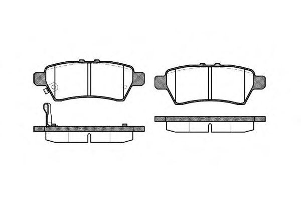 Комплект тормозных колодок, дисковый тормоз REMSA арт. 118801