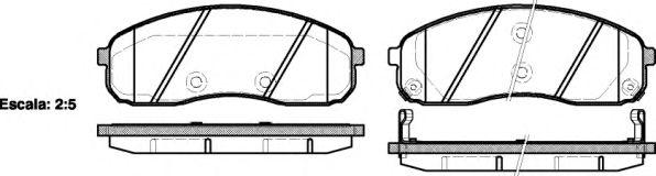 Комплект тормозных колодок, дисковый тормоз REMSA арт. 124402