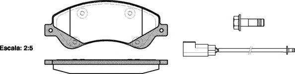 Комплект тормозных колодок, дисковый тормоз REMSA арт. 125102