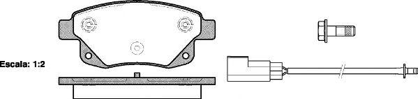 Комплект тормозных колодок, дисковый тормоз REMSA арт. 125202