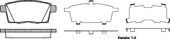 Комплект тормозных колодок, дисковый тормоз REMSA арт. 126800