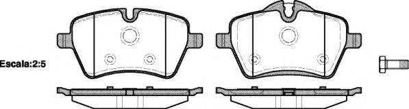 Комплект тормозных колодок, дисковый тормоз REMSA арт. 127700