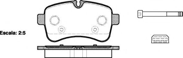 Комплект тормозных колодок, дисковый тормоз REMSA арт. 128200