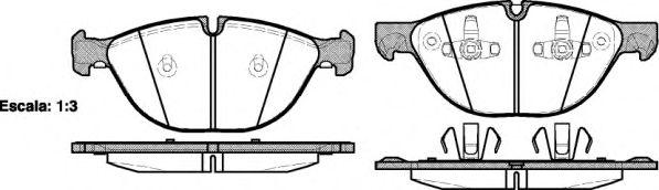 Комплект тормозных колодок, дисковый тормоз REMSA арт. 129800