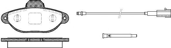 Комплект тормозных колодок, дисковый тормоз REMSA арт. 041421