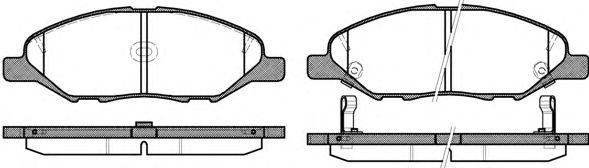 Комплект тормозных колодок, дисковый тормоз REMSA арт. 129302