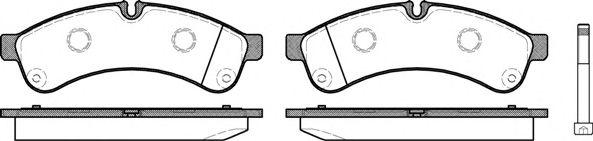 Комплект тормозных колодок, дисковый тормоз REMSA арт. 133900