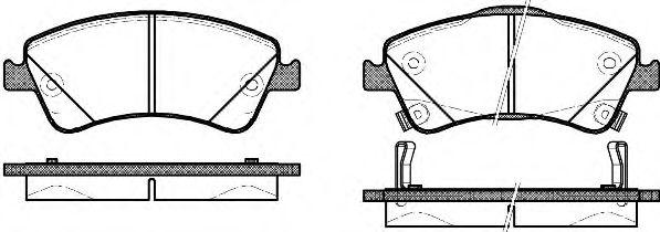 Комплект тормозных колодок, дисковый тормоз REMSA арт. 134102