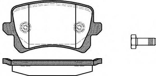 Комплект тормозных колодок, дисковый тормоз REMSA арт. 134200