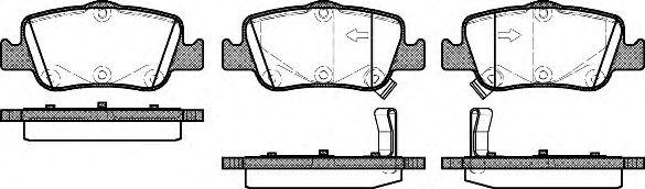 Комплект тормозных колодок, дисковый тормоз REMSA арт. 135602