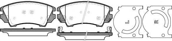 Комплект тормозных колодок, дисковый тормоз REMSA арт. 137512