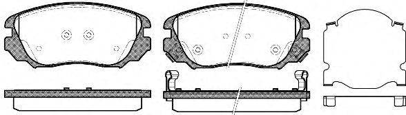 Комплект тормозных колодок, дисковый тормоз REMSA арт. 138502