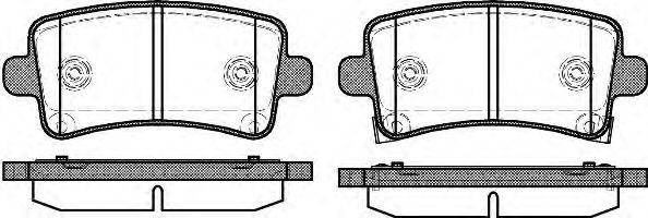 Комплект тормозных колодок, дисковый тормоз REMSA арт. 138804