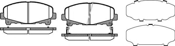 Комплект тормозных колодок, дисковый тормоз REMSA арт. 139002