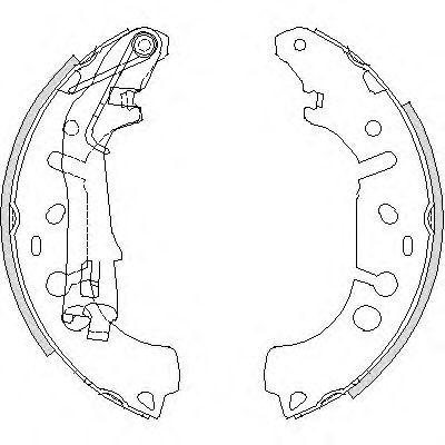 Комплект тормозных колодок REMSA арт. 419200