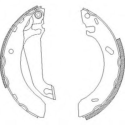 Комплект тормозных колодок REMSA арт. 430400