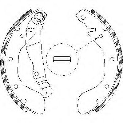 Комплект тормозных колодок REMSA арт. 430700