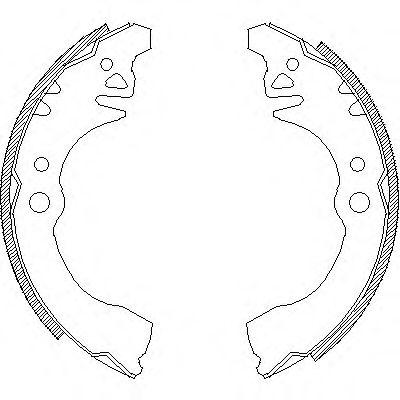 Комплект тормозных колодок REMSA арт. 437400
