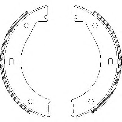 Комплект тормозных колодок, стояночная тормозная система REMSA арт. 440400