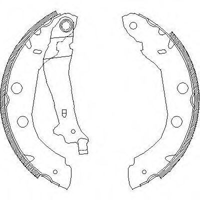 Комплект тормозных колодок REMSA арт. 441500
