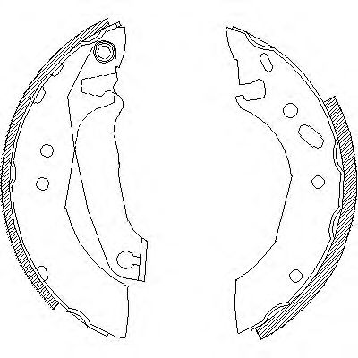 Комплект тормозных колодок REMSA арт. 450700