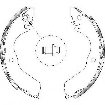 Комплект тормозных колодок REMSA арт. 464700