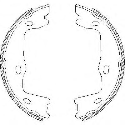 Комплект тормозных колодок, стояночная тормозная система REMSA арт. 465100