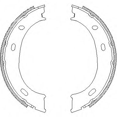 Комплект тормозных колодок, стояночная тормозная система REMSA арт.