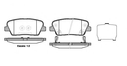 Комплект тормозных колодок, дисковый тормоз REMSA арт. 127402