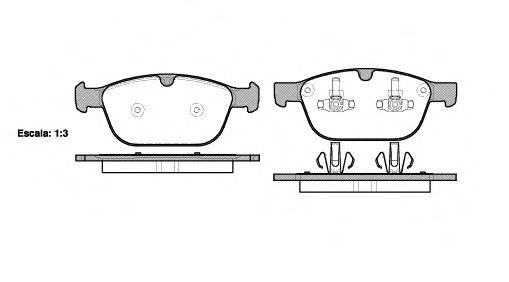 Комплект тормозных колодок, дисковый тормоз REMSA арт. 139700