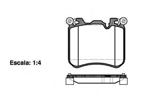 Комплект тормозных колодок, дисковый тормоз REMSA арт. 141300