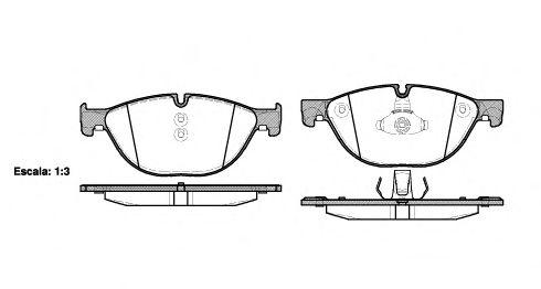 Комплект тормозных колодок, дисковый тормоз REMSA арт. 141400