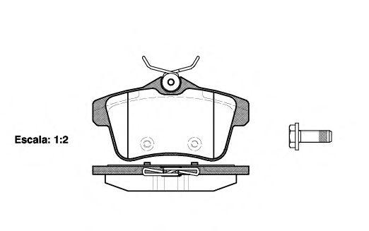 Комплект тормозных колодок, дисковый тормоз REMSA арт. 141800