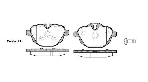 Комплект тормозных колодок, дисковый тормоз REMSA арт. 142100