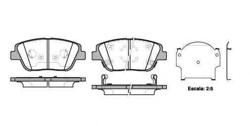 Комплект тормозных колодок, дисковый тормоз REMSA арт. 142302