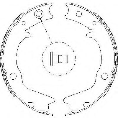 Комплект тормозных колодок, стояночная тормозная система REMSA арт. 470200