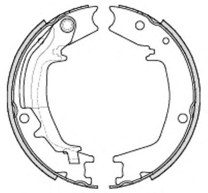 Комплект тормозных колодок, стояночная тормозная система REMSA арт. 423500