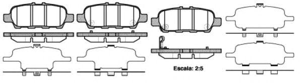 Комплект тормозных колодок, дисковый тормоз REMSA арт. 087641