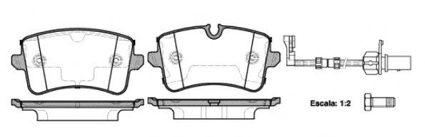 Комплект тормозных колодок, дисковый тормоз REMSA арт. 134320