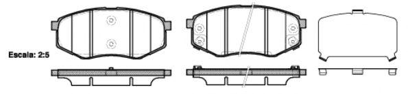 Комплект тормозных колодок, дисковый тормоз REMSA арт. 142602