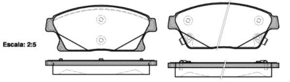 Комплект тормозных колодок, дисковый тормоз REMSA арт. 143102